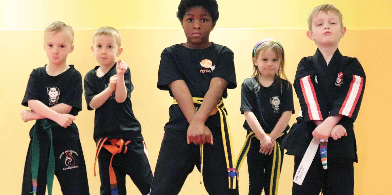 Young Kids Kickboxing Classes | Dragons Ages 5-6 | Newport City Martial Arts
