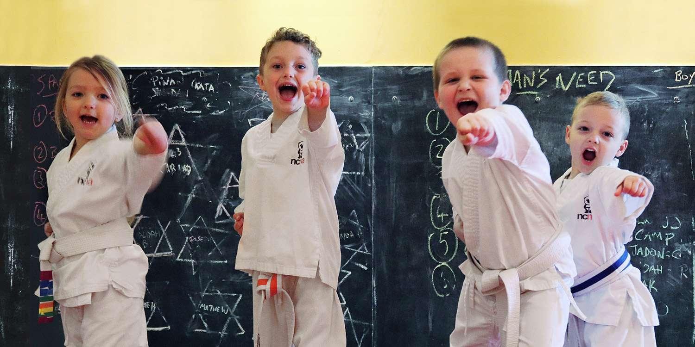 Pandas Kickboxing Classes | Kids Aged 3-4 | Newport City Martial Arts